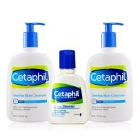 美版 Cetaphil 丝塔芙 温和洁面乳套装 118ml+591ml*2  适合所有肤质