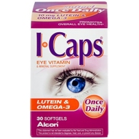 Alcon I-Caps叶黄素&Omega-3维生素和矿物质补充剂软胶囊30粒 4岁以上儿童可用
