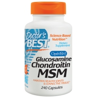 美国直邮 Doctor's Best氨基葡萄糖胺软骨素MSM 有机硫健骨240粒