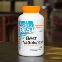 美国直邮Doctor's Best 纳豆激酶素食胶囊 溶解血栓降血压270粒