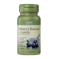 GNC Standardized Bilberry Plus Lutein 标准越橘加叶黄素 60粒
