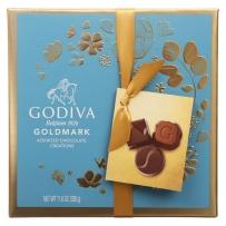美国直邮 GODIVA 歌帝梵 巧克力2019新款蓝色礼盒装27粒330g