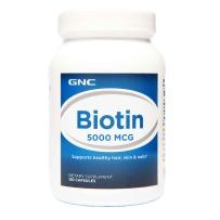 GNC 生物素 5000 MCG 120 粒 抗湿疹 防脱发谢顶