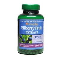 Puritan's Pride 普丽普莱 蓝莓提取物胶囊 375mg 200粒 保护眼睛