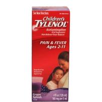 Children's Tylenol 儿童泰诺 退烧止痛感冒糖浆 120ml  葡萄味 2-11岁适用