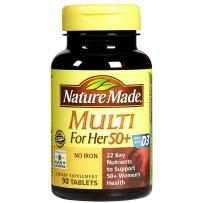 Nature Made 中老年女性综合维生素/矿物质片 90粒