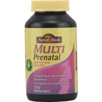 Nature Made  孕妇综合维生素片 含叶酸 250粒