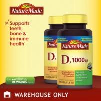 Nature Made®  维生素D 1000 IU 牙齿骨骼及免疫系统保健, 100粒