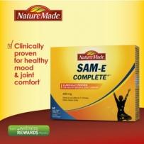 Nature Made 抗焦虑抑郁改善情绪SAM-E保护关节60粒