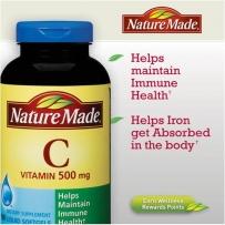Nature Made 维生素C液体软胶囊500mg 180粒