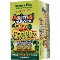 Nature's Plus 动物大游行 儿童绿色蔬菜营养咀嚼片 90粒 热带水果味