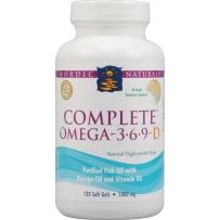 Nordic  Omega3-6-9深海鱼油含 D3  120粒 柠檬味