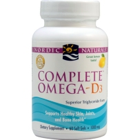 Nordic  Omega3-6-9深海鱼油含 D3  60粒 柠檬味