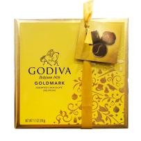 美国直邮 GODIVA 歌帝梵 巧克力金色礼盒装27粒316g 不含反式脂肪
