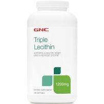 GNC健安喜三重大豆卵磷脂软胶囊180粒中老年降血脂胆固醇养肝 新包装