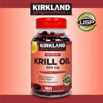 Kirkland Signature 磷虾油虾青素500毫克 160粒