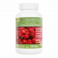 美国直邮Trunature天然蔓越莓精华胶囊 女性卵巢健康650mg 140粒