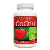 美国Trunature CoQ10辅酶Q10软胶囊 心脏保健品100mg 250粒 新包装加量更实惠