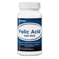 GNC Folic Acid健安喜叶酸片 400mcg 100粒 孕妇必备