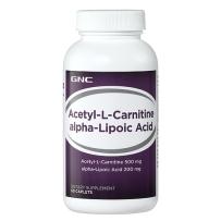 GNC 高纯度左旋肉碱 添加类脂酸版 加强减肥效果 调血糖 抗氧化 60粒