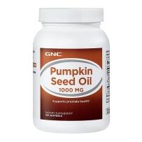 GNC 纯天然南瓜籽油 1000mg  100粒  前列腺保健