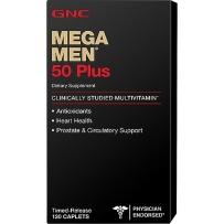 GNC Mega Men 50岁以上男性复合维生素缓释片 120 粒