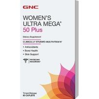 GNC Women's Ultra Mega 50岁以上女性复合维生素缓释片 60 粒