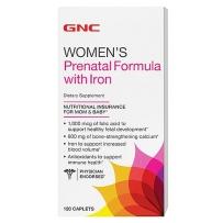GNC 孕妇维生素矿物质综合片 含铁配方  120粒