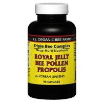 YS高效有机蜂皇配方 有机蜂皇浆+蜂膠+蜂花粉 (三合一)  90粒胶囊