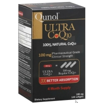 Qunol 超辅酶Q10  100mg  120粒超强抗氧化剂