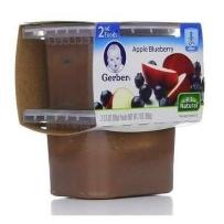 嘉宝Gerber 2段 苹果蓝莓泥 2套装(4盒 99*4)
