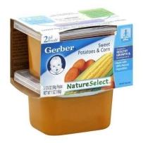 嘉宝Gerber 2段  甜薯玉米泥 2套装(4盒 99g*4)