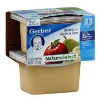 嘉宝Gerber 2段 香蕉苹果香梨泥 2套装(4盒 99g*4)