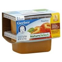 嘉宝Gerber 1段 水蜜桃泥 2套装 (4盒 71g*4)
