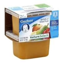 嘉宝Gerber 2段 杏肉混合水果泥 2套装 (4盒 99g*4)