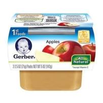 嘉宝Gerber 1段  苹果泥  2套装 (4盒 71g*4)