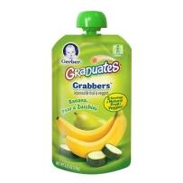 Gerber嘉宝 2段 香蕉香梨西葫芦泥 吸吸乐 2支装 (120g*2)