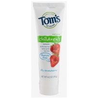 Tom's Of Maine天然无氟儿童牙膏 草莓味
