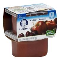 嘉宝Gerber 2段 苹果樱桃泥 2套装(4盒 99g*4)