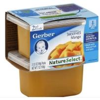 嘉宝Gerber 2段 芒果泥 2套装(4盒 99g*4)