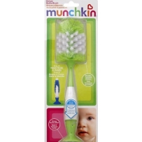Munchkin麦肯奇 带直立二合一吸盘式豪华奶瓶刷 颜色随机
