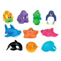 Munchkin麦肯奇 宝宝戏水玩具 海洋小生物 十件套
