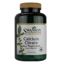 Swanson 柠檬酸钙镁复合胶囊 150粒 补钙健骨骼