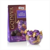 GODIVA  歌蒂梵  松露黑巧克力宝石块 113g