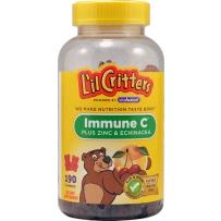 L'il Critters小熊糖维生素c+锌+紫锥菊 190粒