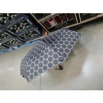 Ultimate SHEDRAIN晴雨伞折叠三折伞 全自动开合 波点款