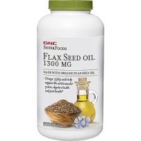 GNC健安喜亚麻籽油软胶囊180粒亚麻酸欧米伽3维持心脏及关节健康1300