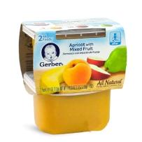 Gerber嘉宝 2段 黄桃香蕉苹果香梨泥 2套装(113g*4)