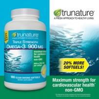 美国Trunature 天然Omega-3脂肪酸 900毫克 180粒