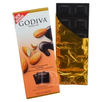 GODIVA  歌蒂梵 72%  杏仁黑巧克力直板排块 90g